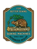 Sewing Machine Ad with Beaver Giclee Print