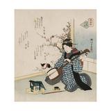 Te-Ike No Hana 'Hand-Picked Flower' Giclee Print by Yanagawa Shigenobu II
