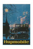 Vintage Hupmobile in City Giclee Print
