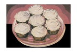 Cupcakes with Vanilla Frosting Giclee Print