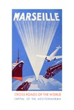 Marseille Crossroads of the World Advert C. 1940 Giclee Print