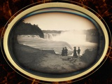 Daguerreotype of Couples Standing in Front of Niagara Falls Photographic Print by Platt D. Babbitt