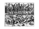 Sodomites Savaged Giclee Print by Theodor de Bry
