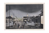 Night View, Nihonbashi Giclee Print by Ogura Ryuson
