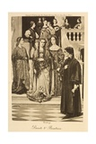 Illustration of Dante and Beatrice Giclee Print