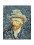 Self-Portrait with Grey Felt Hat Giclee Print by Vincent van Gogh