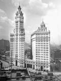 Wrigley Building on Michigan Avenue in Chicago, Ca. 1928 Photographic Print