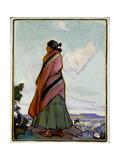 Navajo Shepherdess Giclee Print by Ira Diamond Gerald Cassidy