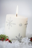 Festive Christmas Candle Photographic Print by Tammy Hanratty