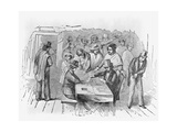 Engraving Gambling in Frisco Giclee Print
