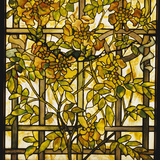 Tiffany Studios Trumpet Vine Leaded Glass Window Photographic Print