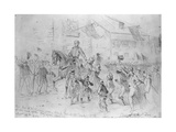 General Mcclellan Passing Through Frederick City, Maryland, September 12, 1862 Giclee Print by Edwin Forbes