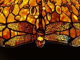 Detail of Tiffany Studios Dichroic 'Dragonfly' Leaded Glass and Bronze Floor Lamp Photographic Print