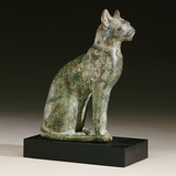 An Egyptian Bronze Figure of a Cat Photographic Print