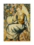 Lady with a Monkey Giclee Print by Roger Fry