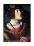 Portrait of Charles V, Holy Roman Emperor Giclee Print by Bernard Van orley