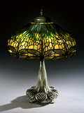 Tiffany Studios 'Drophead Dragonfly' Leaded Glass and Bronze Table Lamp Photographic Print