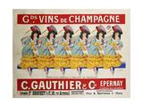 Gds Vins De Champagne Giclee Print by Casimir Brau
