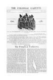 Colonial Gazette Supplement No. 39 Giclee Print