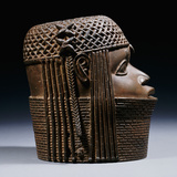 An Extremely Fine Benin Bronze Head Photographic Print
