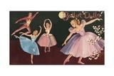 Vintage Set of Ballet Paper Dolls Giclee Print