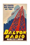 Dalton Radio French Poster Giclee Print