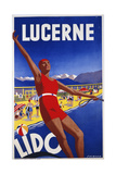 Lucerne Lido Giclee Print by Albert Solbach