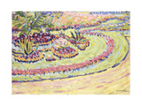 Flowerbed Giclee Print by Ernst Ludwig Kirchner