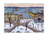 Battery Park Giclee Print by Glenn O. Coleman