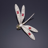 A Fine Gem-Set Dragonfly Brooch Photographic Print
