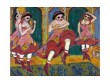 Czardas Dancers Giclee Print by Ernst Ludwig Kirchner