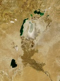 Low Earth Orbit View of the Aral Sea Photographic Print