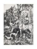 Saint Eustace Giclée-Druck von Albrecht Dürer