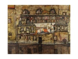 House Wall on the River Giclee Print by Egon Schiele