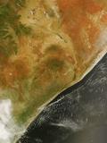 Low Earth Orbit View of Kenya, Somalia and Ethiopia Photographic Print