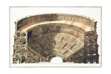 Engraving of the Colosseum in Rome Giclee Print