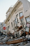 Quake-Damaged Street in San Francisco Photographic Print by Roger Ressmeyer