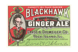 Blackhawk Ginger Ale Label Giclee Print