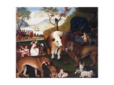 The Peaceable Kingdom Giclee Print by Edward Hicks