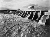 Spilling Water from a Tennessee Dam Photographic Print