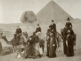 British Tourist Visiting the Pyramids of Giza Photographic Print
