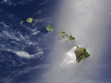 Hawaiian Islands and Pacific Ocean Photographic Print