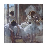 The Ballet Class Giclee Print by Edgar Degas