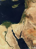 Middle East and the Sinai Peninsula Photographic Print