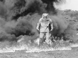 1960s Fireman in Asbestos Suit Photographic Print