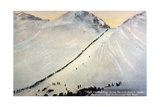 Gold Prospectors Crossing Chilkoot Pass Giclee Print