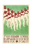 Swiss Gymnastics Poster Giclee Print