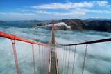 Road Deck of the Golden Gate Bridge Fotografisk tryk af Roger Ressmeyer