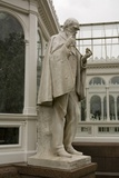 Charles Darwin Statue at Sefton Park Palm House Photographic Print by Michael Nicholson