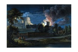 Windsor Castle from Datchet Lane on a Rejoicing Night Giclee Print by Paul Sandby